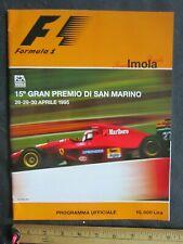 Grand Prix San Marino at Imola Formula One Racing Program! 1885