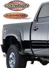 BUSHWACKER 40092-02 Rear Black Pocket Style Fender Flares for 2007&up Silverado