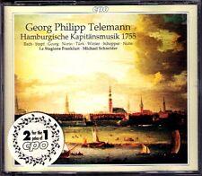TELEMANN Hamburgische Kapitänsmusik 1755 SCHNEIDER 2CD Danket dem Herrn