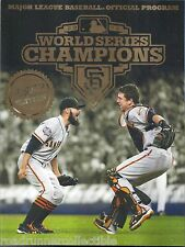 Program World Series MLB 2012 Giants Tigers Posey Romo Limited Gold Edition New