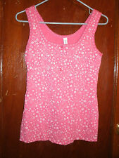 Gitano ladies pink floral tank top size small