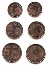 Estonia 2011 Euro Coins  COOPER  set  UNC  1;2;5 CENT   FROM MINT ROLL