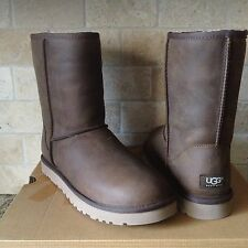 UGG Classic Short Acorn Water-resistant Leather Boots US 5 Womens fits Youth 3