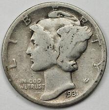1931-d Mercury Head Dime.  Better Grade.  88658   (INV. A)