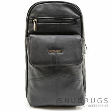 Ladies / Womens / Mens Soft Nappa Leather Travel / Holiday Shoulder Bag
