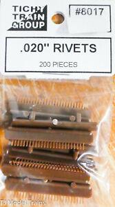 """Tichy Train Group #8017 (Rivets) .020"""" (200 Pieces) Plastic Parts"""