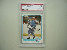 1981/82 O-PEE-CHEE NHL HOCKEY CARD #286 PETER STASTNY ROOKIE IA PSA 7 NM OPC
