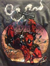 Deadpool T-Shirt L Large Gray New