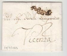 1812 REGNO Napoleonico lettera PADOVA-VICENZA-CORSIVO con LUNETTE-f964