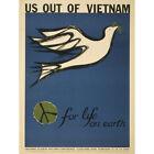 PROPAGANDA PROTEST PEACE DOVE VIETNAM WAR STUDENT CONFERENCE POSTER 30X40 CM 12X