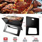 Foldable Compact Barbecue BBQ Grill Charcoal Stove Shish Kabob Camping Cooker US photo