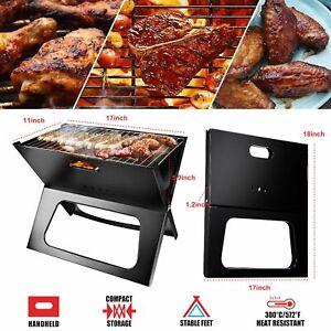 Foldable Compact Barbecue BBQ Grill Charcoal Stove Shish Kabob Camping Cooker US