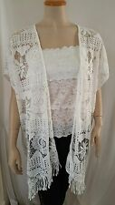 "women's plus one size crochet lace with trim   cardigan (bust-60"")"