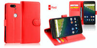New Wallet Leather Case Cover For Google Nexus 6P + Screen Protector