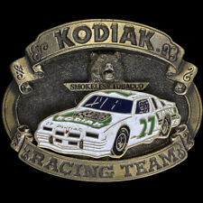 Nascar Rusty Wallace #27 Kodiak Tobacco Pontiac Grand Prix NOS Vtg Belt Buckle
