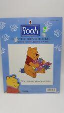 Disney Winnie Pooh Counted Cross Stitch Kit P Pansies Floral Flowers Posies Bear