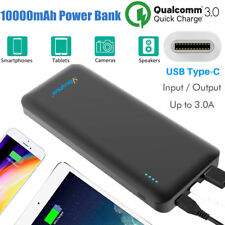 10000mAh Portable Power Bank Battery USB C Quick Charge 3.0 for iPhone Samsung