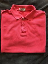 """L.L. Bean """"Double L"""" Shirt Pique Knit Red Vintage Usa Made 100% Cotton"""
