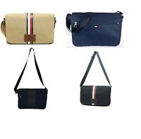 NWT Tommy Hilfiger Men's Women's  Canvas Laptop / Messenger Bag Briefcase
