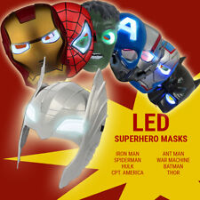 Super Hero Avengers Hulk Batman Captain America Spiderman & Iron man LED Mask