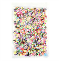 1000PCS 3D Fruit Animals Fimo Slice Clay DIY Nail Art Tips Sticker Fashion Decor
