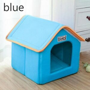 Dog House Foldable Bed With Mat Soft Winter Indoor Dog Kennel Hide Out Cave Dog