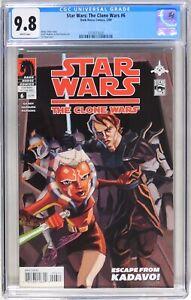 D221 Star Wars: The Clone Wars #6 DH CGC 9.8 NM/MT (2009) Ahsoka Tano Cover
