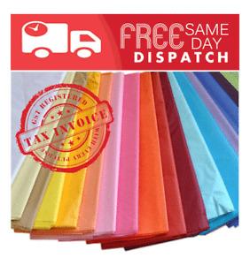 BULK COLOUR TISSUE PAPER 17GSM 750 x 500mm 500 sheets/pack