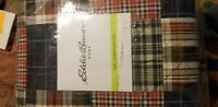 Lodge Quilt Set Queen Size Comforter Bed Cover Red Blue Patchwork Plaid Pattern