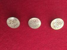 Three Antique Gilt Cuff Buttons Initials CRT.