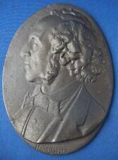 Lauchhammer Eisen Eisenguss Plakette Mendelssohn