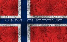 "5"" Norway Flag Vinyl Decal Sticker JDM"