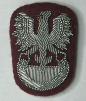 WW2 Free Polish Force Army Officers Bullion Beret Cap Badge Patch
