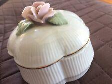 Heritage House Celebration Of Love Porcelain Rose Music Trinket Box Edelweiss