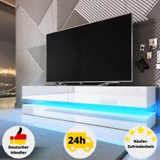 Lowboard Hängend TV Schrank Weiß Hochglanz Eiche 140cm Sideboard Fernsehschrank