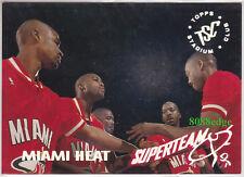 1994-95 STADIUM CLUB SUPER TEAM #14: MIAMI HEAT/GLEN RICE/SALLEY FOIL INSERT