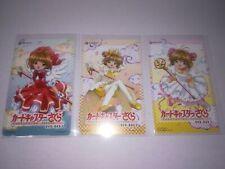 """ Card Captor Sakura "" Not sale in store Phone card / Telephone card Lot of 3"