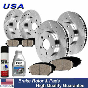 Rear Rotors w//Ceramic Pads OE Brakes 08-12 Accord 09-14 TSX Front