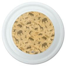 """Africa Animal Silhouettes All Over Pattern Novelty 9"""" Flying Disc"""