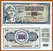 Yugoslavia, 1000 Dinara, 1978, P-92 (92a), UNC > Error, Serie AF