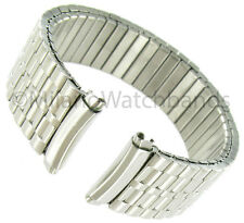 16-19mm Speidel Twist-O-Flex Stainless Silver Tone Curved End Watch Band 1367/02