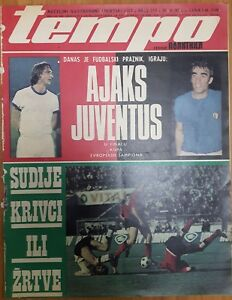 sport magazine TEMPO FC JUVENTUS FC AJAX FINAL GAME 1973 UEFA CHAMPIONS LEAGUE