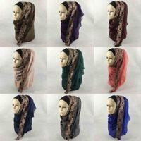 Women Islamic Modal Cotton Soft Plain Headscarf Hijab Shawls Muslim Scarf Shayla