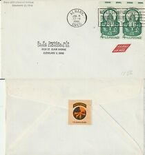 US 1961 COMMERCIAL FLOWN COVER ALBANY OREGON TO CLEVELAND OHIO