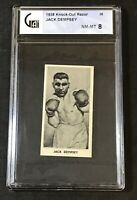 1938 Fred C Cartledge Razors Famous Prize Fighters #26 Jack Dempsey GAI 8 NM-MT