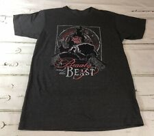 Disney - Beauty and the Beast - T Shirt Sz M EUC - Gray Tee