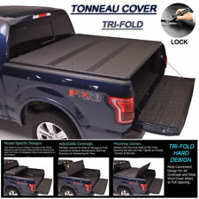 Fits 1999-2017 FORD F250 F350 F450 Tri-Fold Solid Hard Tonneau Cover 6.5ft Bed