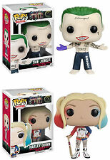 Funko POP! Movies ~ THE JOKER & HARLEY QUINN SET - Suicide Squad ~ IN STOCK!