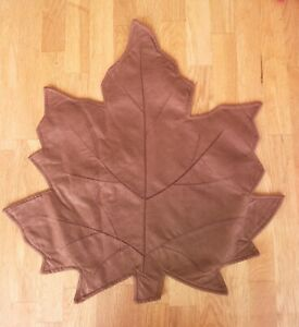 MAPLE LEAF PLACEMATS Faux Suede Choice of Color Better Homes and Gardens