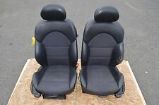 2001-2006 BMW E46 M3 COUPE FRONT SEATS BLACK MANUAL HEATED LEATHER CLOTH OEM